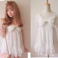 Kawaii Trendy Princess Cute Sweet Dolly Gothic Punk Lolita Chiffon Shirt top