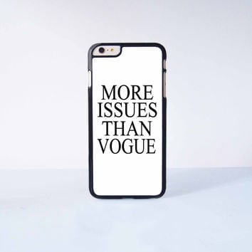 More Issues Than Vogue Plastic Case Cover for Apple iPhone 6 Plus 4 4s 5 5s 5c 6