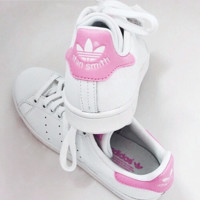 """stan smith"" Fashion Flats Sneakers Sport Shoes Pink"