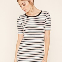 Micro-Ribbed Stripe Dress