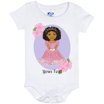 Personalized Baby Onesuit 6 Month African American Princess Design