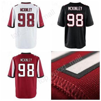 2017 Draft Pick McKinley Football Jerseys American 98 Takkarist McKinley Jersey Men All Stitched Sports Home Red Black White Color