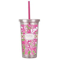 Tumbler with Straw in Coronado Crab by Lilly Pulitzer