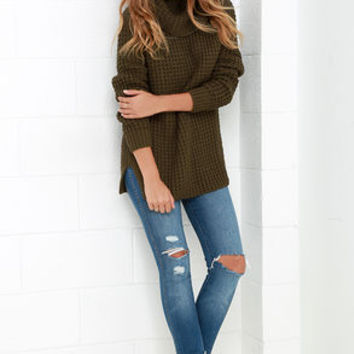 Parker Bridge Olive Green Sweater