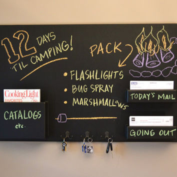 Mail Organizer chalkboard Medium wall mounted by inorder2organize
