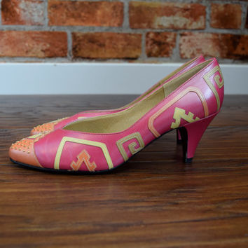 Vintage 80s Brand New Selby Funk High Heels Shoes