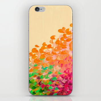 CREATION IN COLOR Autumn Infusion - Colorful Abstract Acrylic Painting Fall Splash Ombre Ocean Waves iPhone & iPod Skin by EbiEmporium