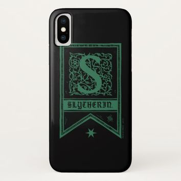 Harry Potter | Slytherin Monogram Banner iPhone X Case