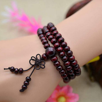 Natural Sandalwood Buddhist  Meditation Beads Bracelets