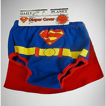 Superman Caped Diaper Cover - Spencer's