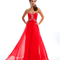 Mac Duggal Prom 2013 - Strapless Cherry Gown With Sequin - Unique Vintage - Cocktail, Pinup, Holiday & Prom Dresses.