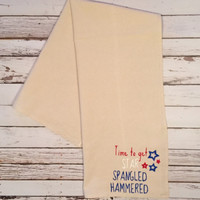 Fourth of July // Star Spangled Hammered // Dish Towel