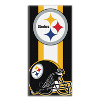 Pittsburgh Steelers NFL Zone Read Cotton Beach Towel (30in x 60in)