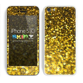 Unfocused Gold Glimmer Skin For The iPhone 5c