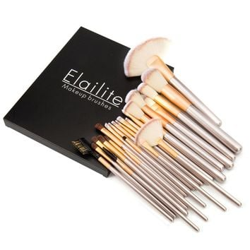 Elailite 24 Pcs Professional Make up Brushes Set in a Cosmetic Case Makeup Kit+Gift Box