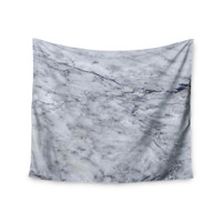 """Chelsea Victoria """"Marble"""" Blue Black Wall Tapestry"""