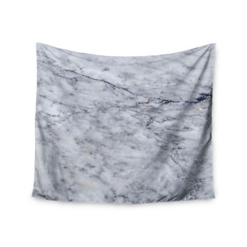 "Chelsea Victoria ""Marble"" Blue Black Wall Tapestry"
