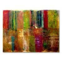 ''Color Abstract'' Canvas Wall Art by Michelle Calkins (Green)