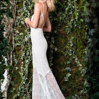 Stone Cold Fox Logan gown in white