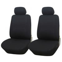 Adeco 4-Piece Car Vehicle Front Seat Protective Covers, Universal Fit, Solid Black