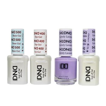 DND - Base, Top, Gel & Lacquer Combo - Lovely Lavender - #542