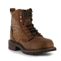 """Justin Women's 6"""" Steel Toe Lace-Up Work Boots"""