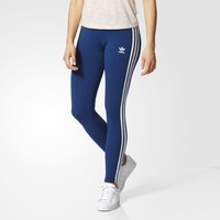 adidas 3-Stripes Leggings - Blue | adidas US