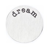 """Dream"" Silver Floating Locket Plate"