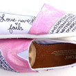 The Etta - Light Pink Glitter and White TOMS