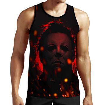 Michael Myers Red Tank Top