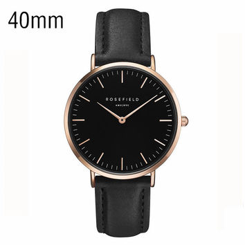 2016 new Thin and simple design Luxury brand Belt Ladies Watch neutral Bauhaus design Belt male form Ultra-thin waterproof Quar