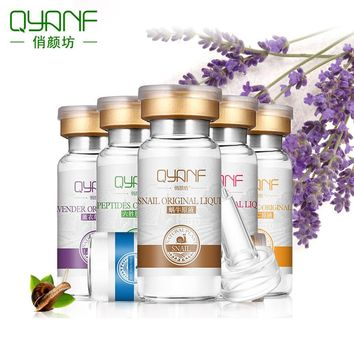 QYANF Snail Serum Lavender Serum Hydraulic Acid Serum Six Peptides Serum EGF Acne Scar Removal Essence