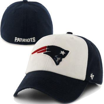 New England Patriots '47 Brand Classic Freshman Franchise Fitted Hat – Navy Blue/White