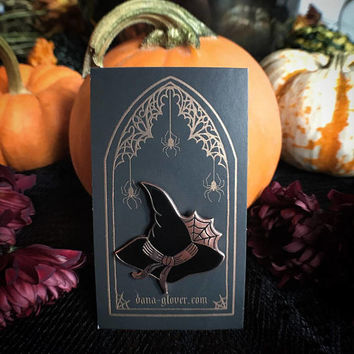 Witch Hat hard enamel pin