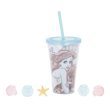 Disney The Little Mermaid Ariel 3D Ice Cubes Acrylic Travel Cup