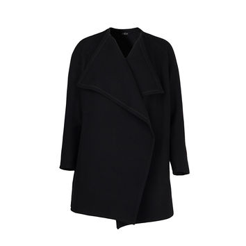 """Black wool cardigan with waterfall front """"Michelle"""""""
