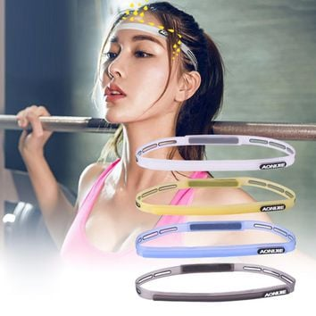 58-62cm Men Women Sports Hair Bands Elastic Pilates Yoga Silicone Guiding Belt Sweat Head Band Headwear Sweatband Gym Protector