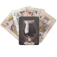 Dark Beer in Tulip Glass Porter Stout Painting Art Bicycle Playing Cards