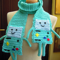 Crochet Beemo from Adventure Time Scarf - Made to Order