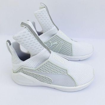 LMFON Puma Fenty by Rihanna Womens Trainers Sneakers Shoes Hi Top White New 189193-02