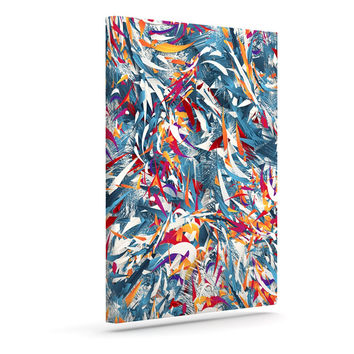 "Danny Ivan ""Excited Colours"" Blue Abstract Canvas Art"