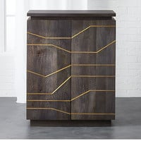 brass inlay cabinet