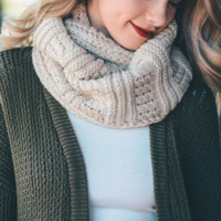 cozy knit infinity scarf - more colors