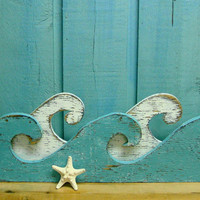 Waves Sign Wall Art Beach House Decor