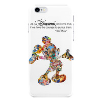 Walt Disney Dreams Quote Mickey Mouse Character Montage Ip For iPhone 6 / 6 Plus Case