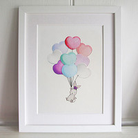 Personalised Heart Balloon Bunch Print