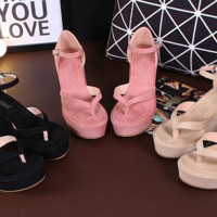 Stylish Sandal Ankle Strap Trendy Wedges