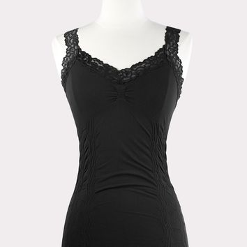 Corset Cami with Lace in Black