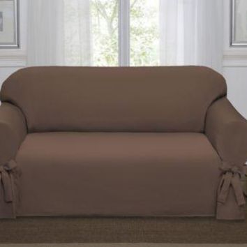 Chocolate Brown Lucerne Sofa Slipcover