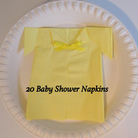 Unisex Baby Shower, Yellow Baby Shower Decorations, Unique Napkins Decor, Decoration Ideas Party Supplies, Creative Themes